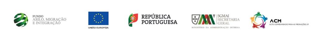 FAMI 5 Logotipos Fundo, UE, Republica, SGMAI, ACM