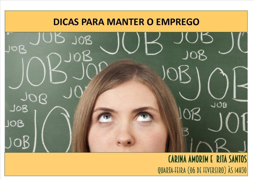 """FORMAÇÃO """"DICAS PARA MANTER O EMPREGO"""""""