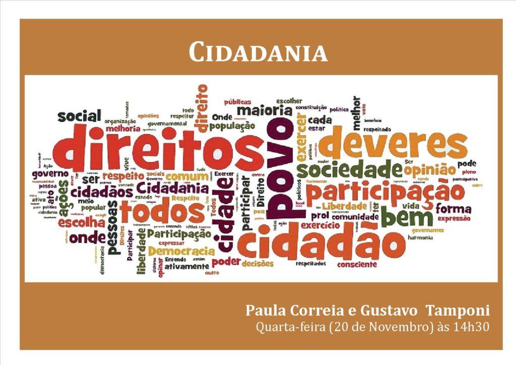 """FORMAÇÃO """"CIDADANIA: DIREITOS E DEVERES"""""""