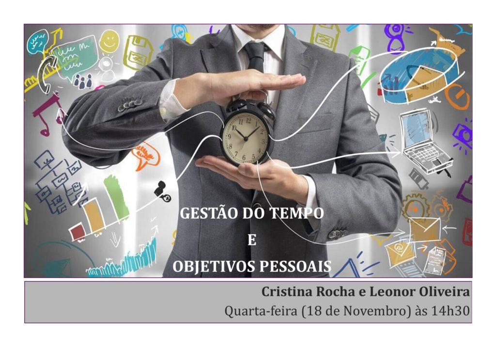 """FORMAÇÃO """"GESTÃO DO TEMPO E OBJETIVOS PESSOAIS"""